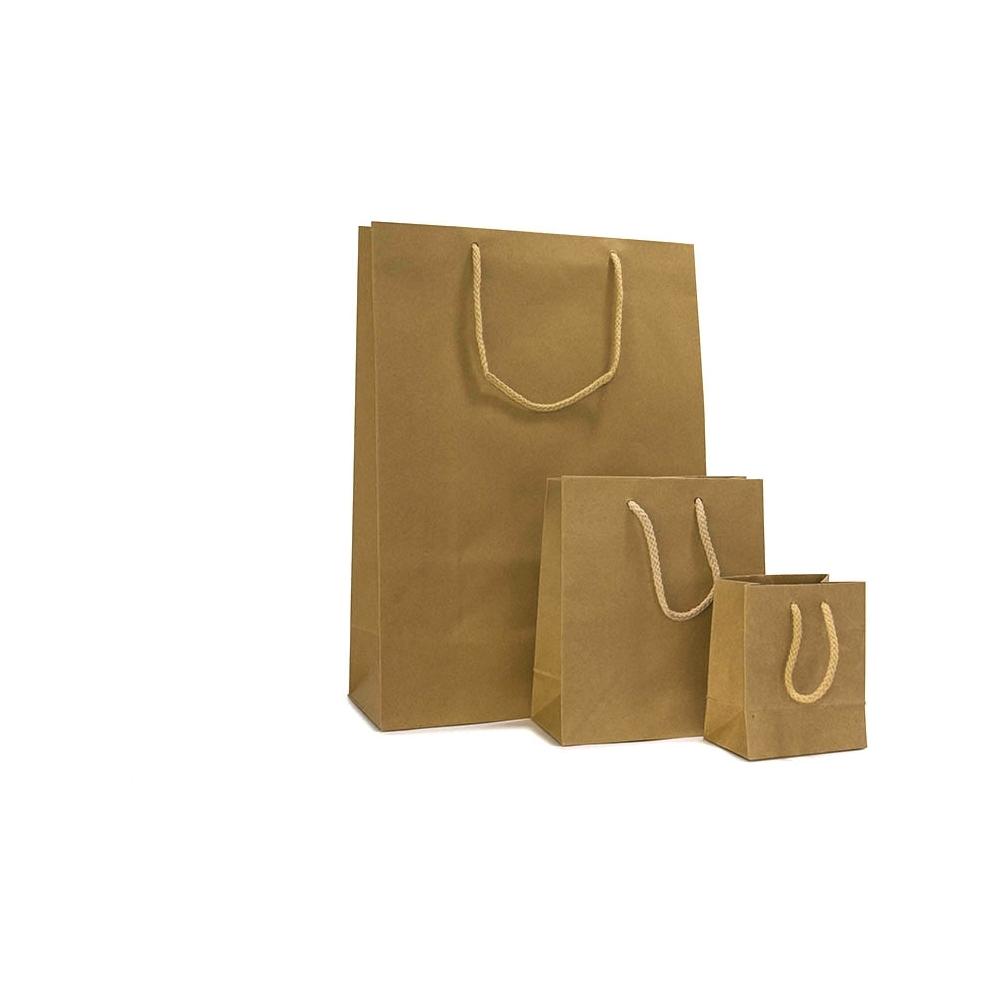Sacchetti in carta kraft con cordino in cotone