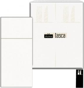 Tovaglioli Bianchi Porta Posate in Carta Secco (50 pezzi) Vendita online all'ingrosso b2b