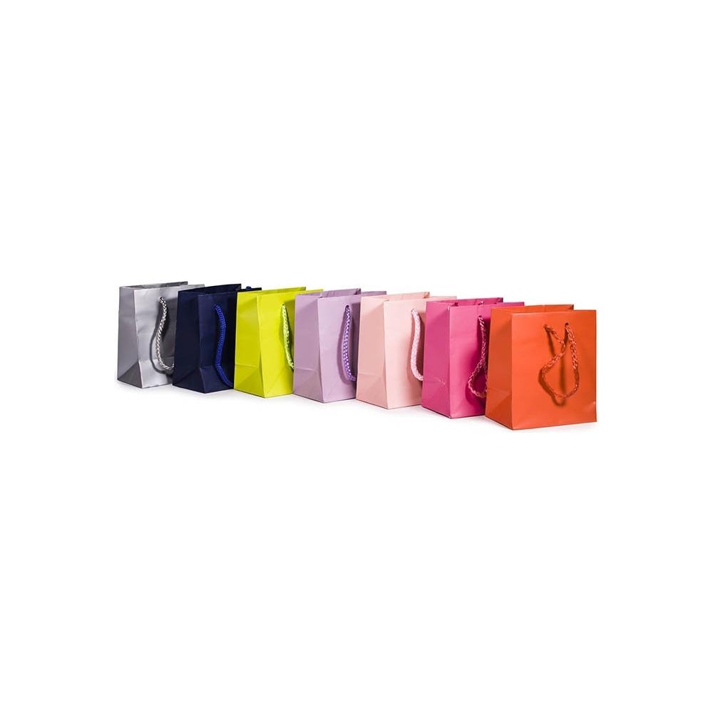 Sacchetti plastificati opachi con corda cotone