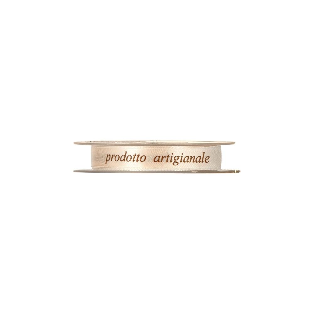 Nastro in raso con scritta prodotto artigianale