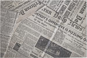 """Tovaglietta Lavabile in Plastica """"Journal"""" (12 pezzi) - Vendita online all'ingrosso b2b"""