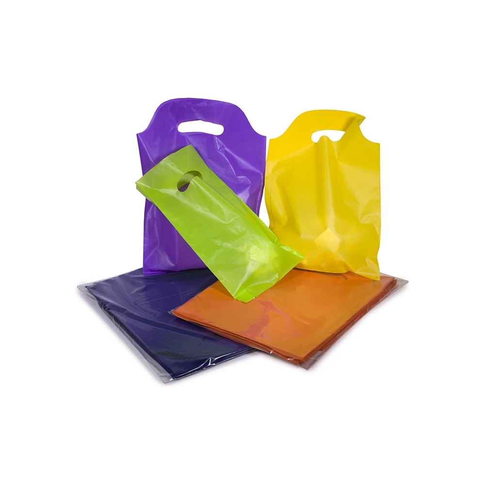 Sacchetti in plastica con manico a fagiolo (50 pezzi)