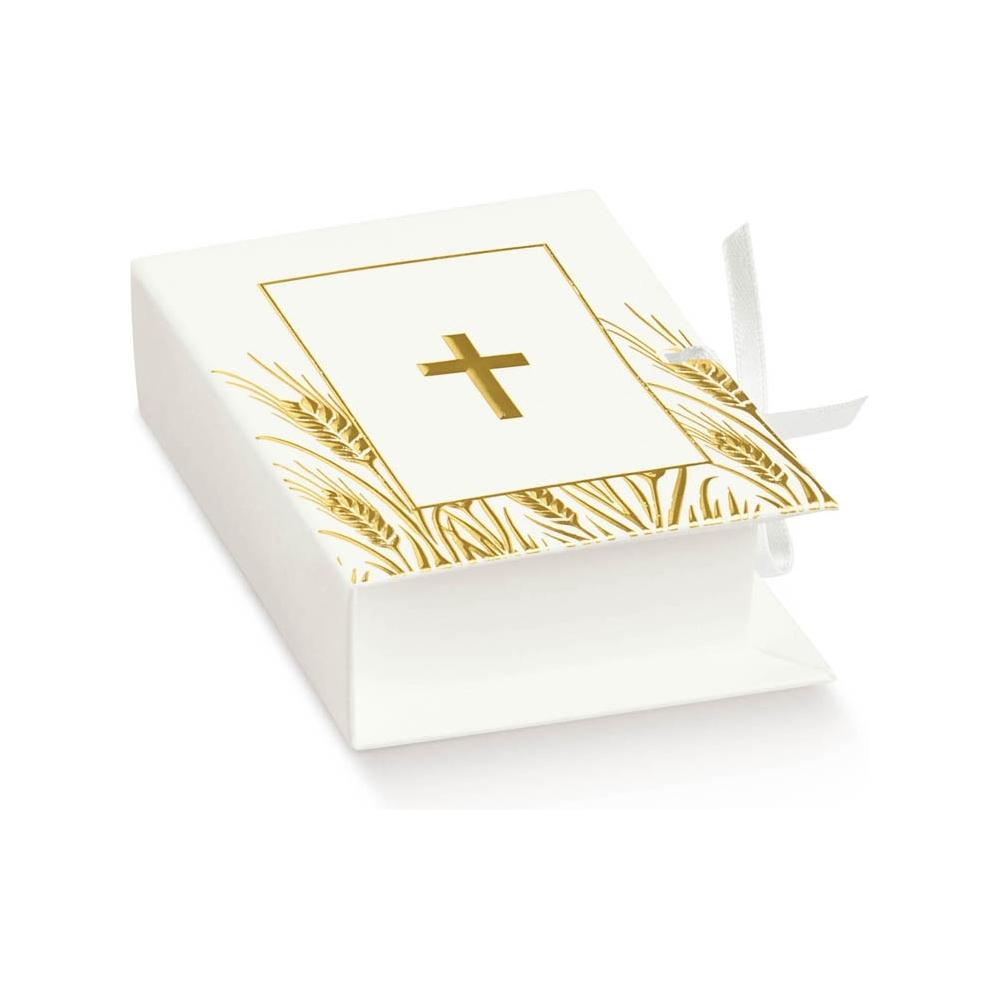 Book portaconfetti croce in cartoncino