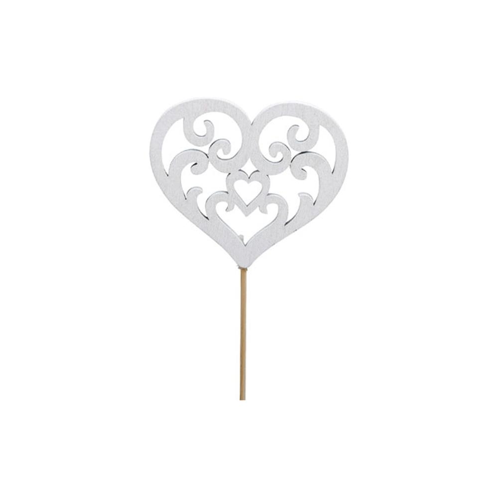 Pick con cuore in legno (16 pezzi)