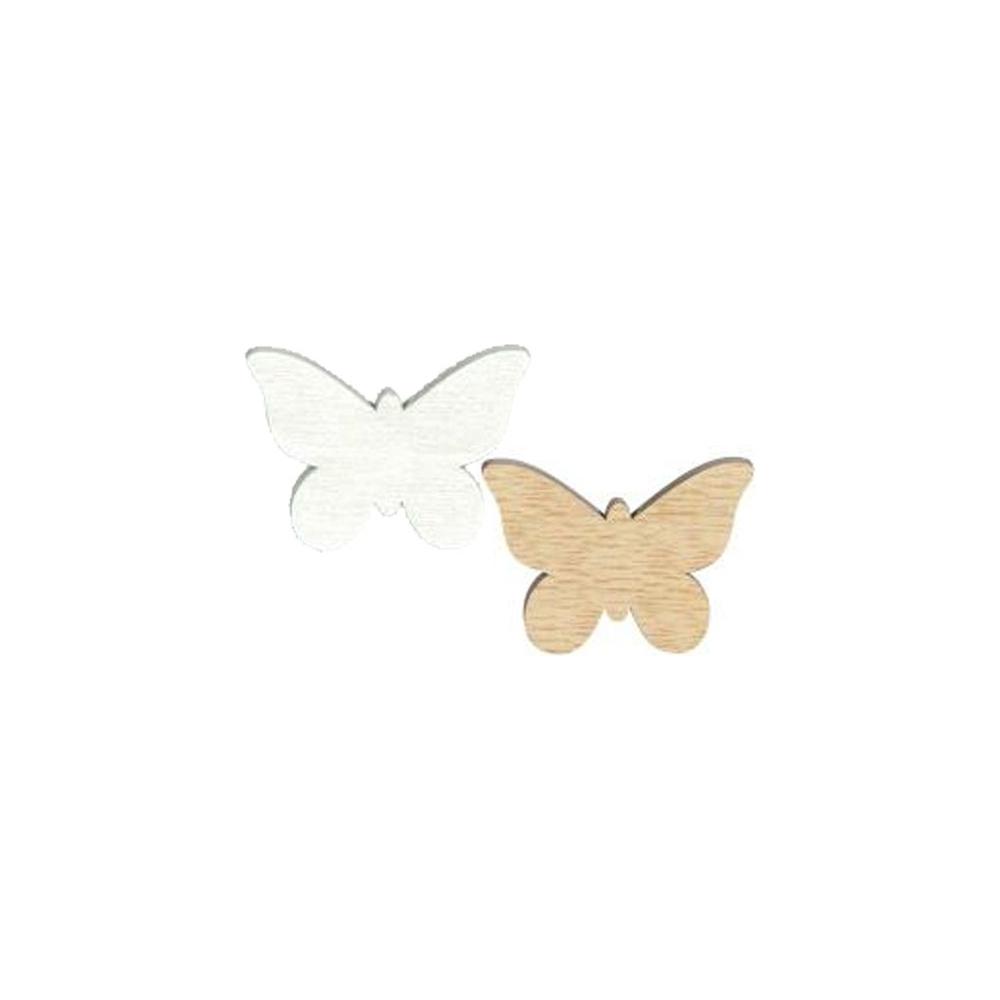 Farfalle in legno (24 pezzi)