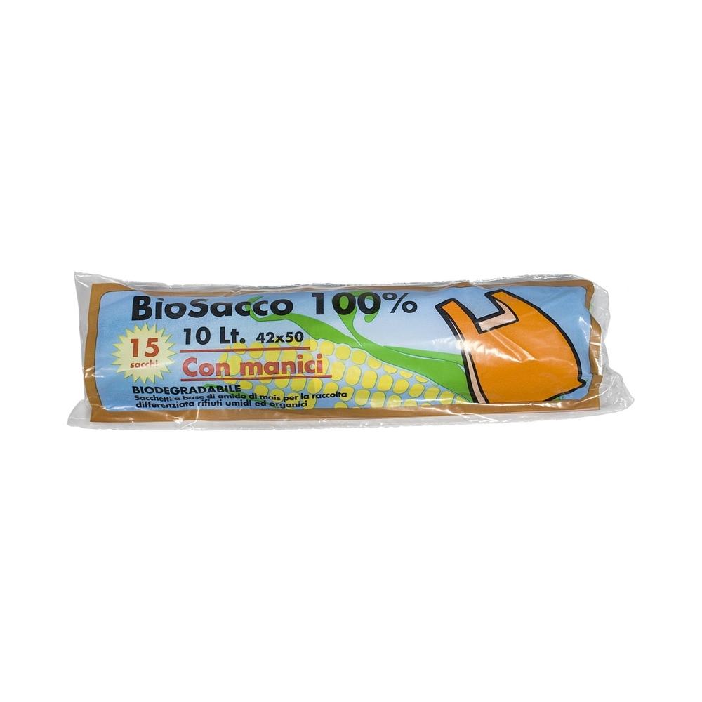 15 sacchi nettezza bio con manici