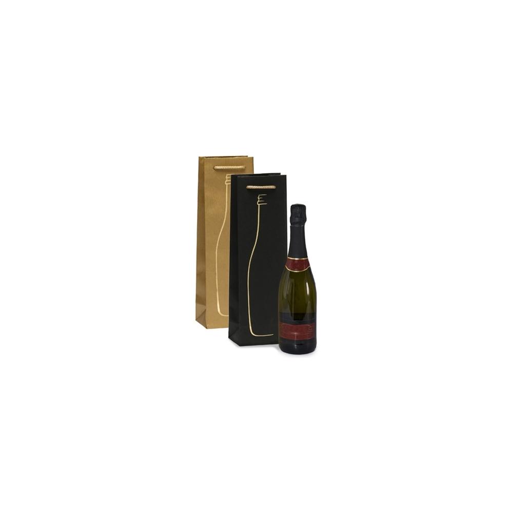 Sacchetti in carta con manico in cotone e inserto bottiglia