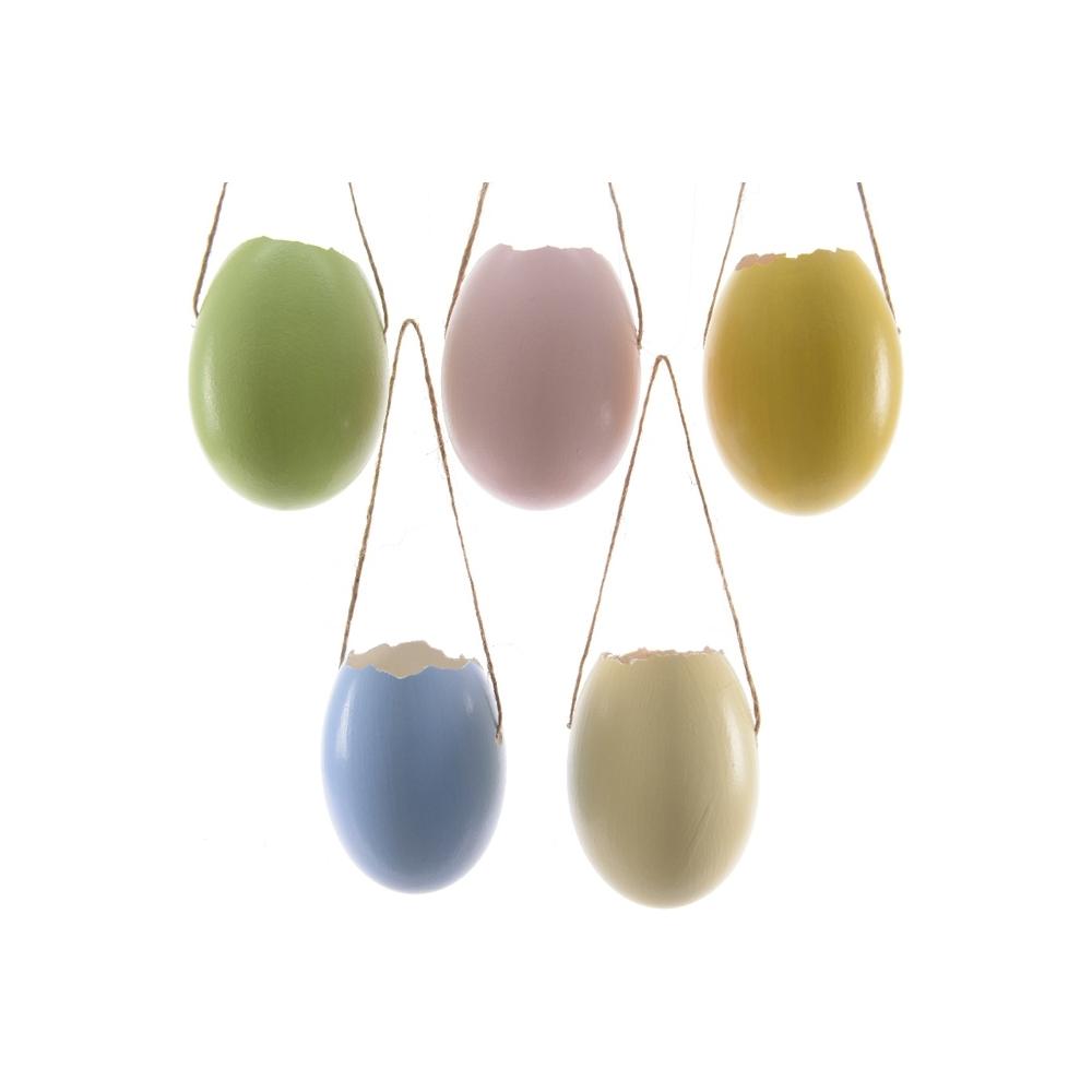 Uova di pasqua colorate da appendere (4 pezzi)