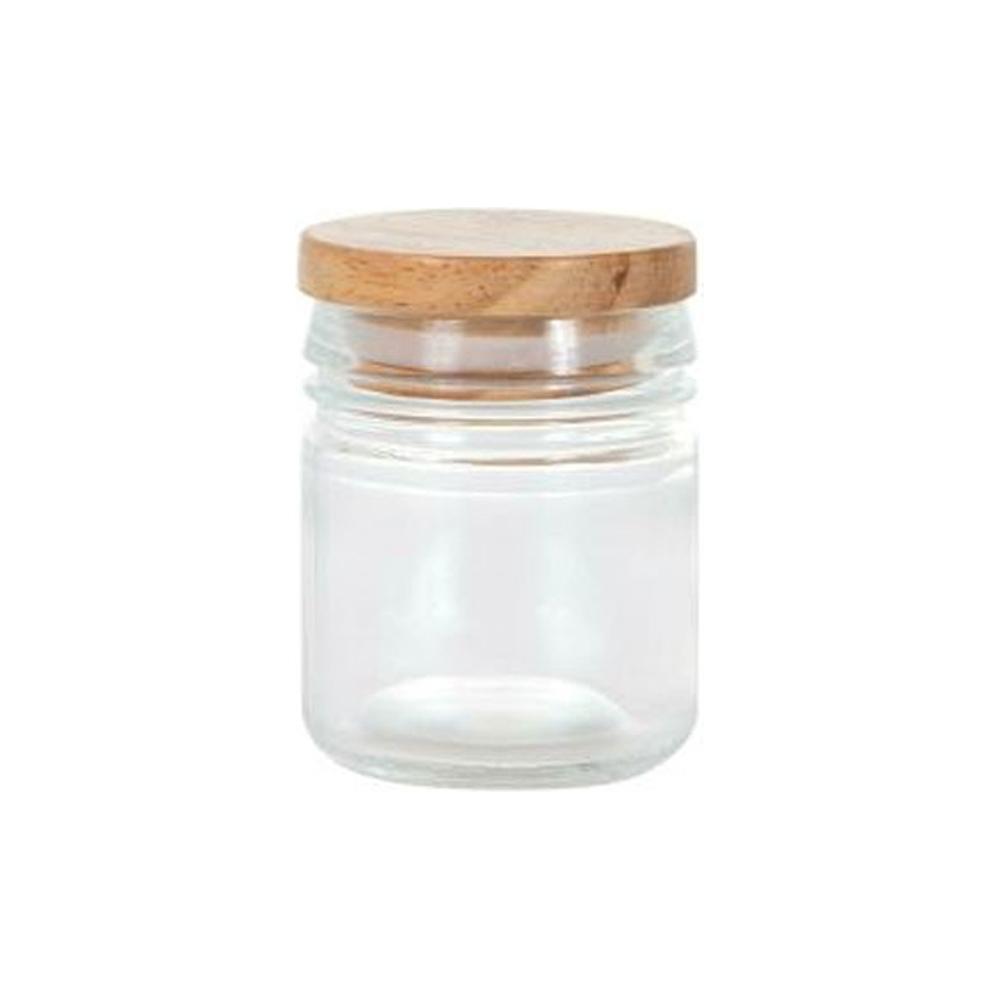 Vasetto in vetro con tappo in legno