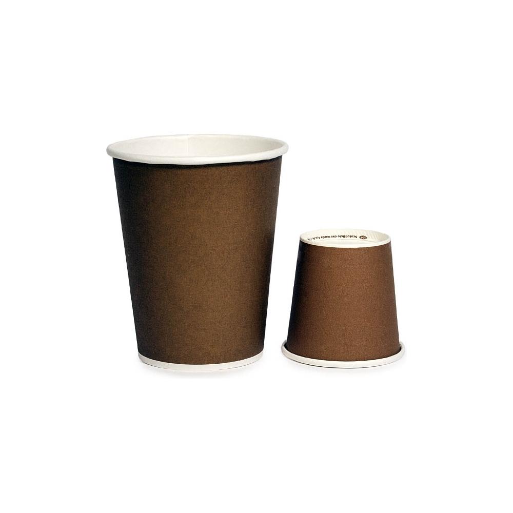Bicchiere linea caldo brown