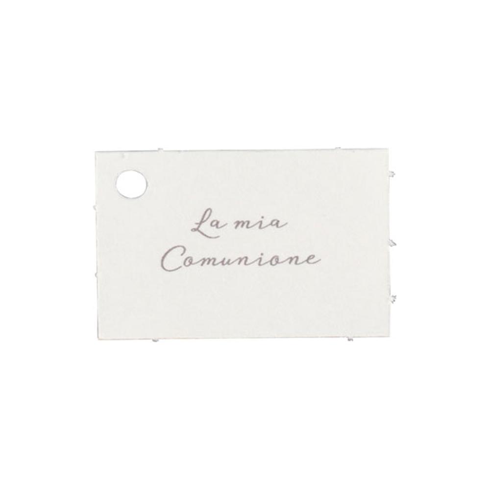 Biglietto con foro con scritta la mia comunione (10 fogli)