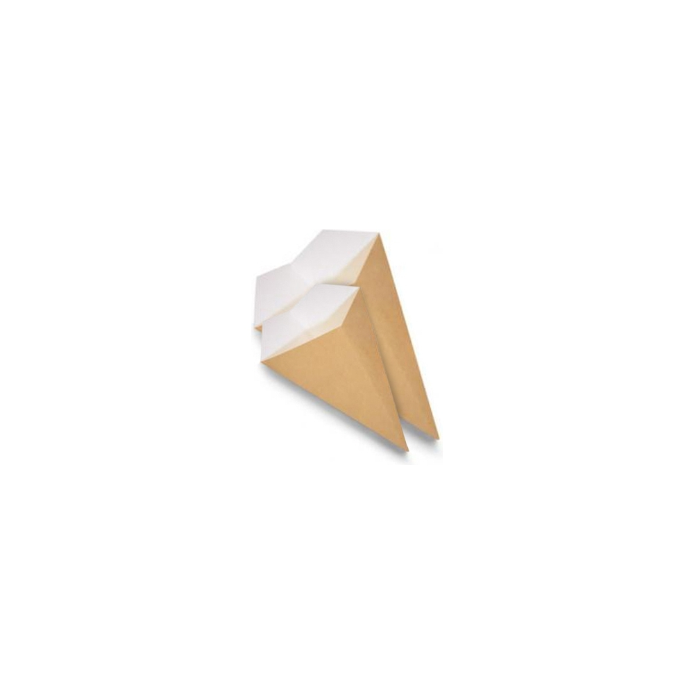 CONO PORTA FRITTI in cartoncino compostabile