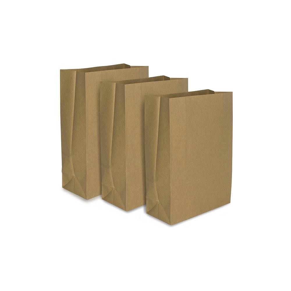 Sacchetti in carta riciclata senza manici (25 pezzi)