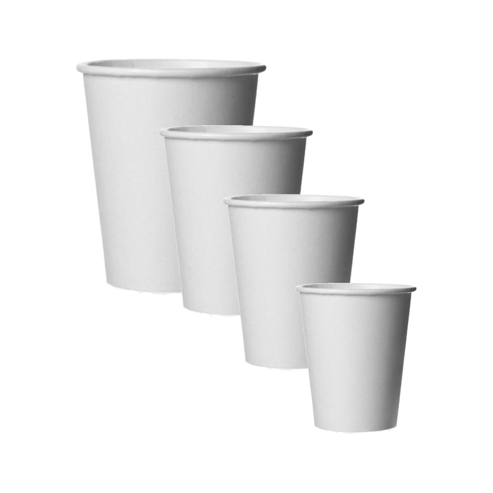 Bicchiere linea caldo bianco