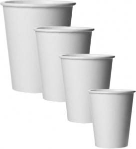Bicchieri Linea Caldo in Cartoncino Bianco (50 Pezzi) | Vendita online all'ingrosso