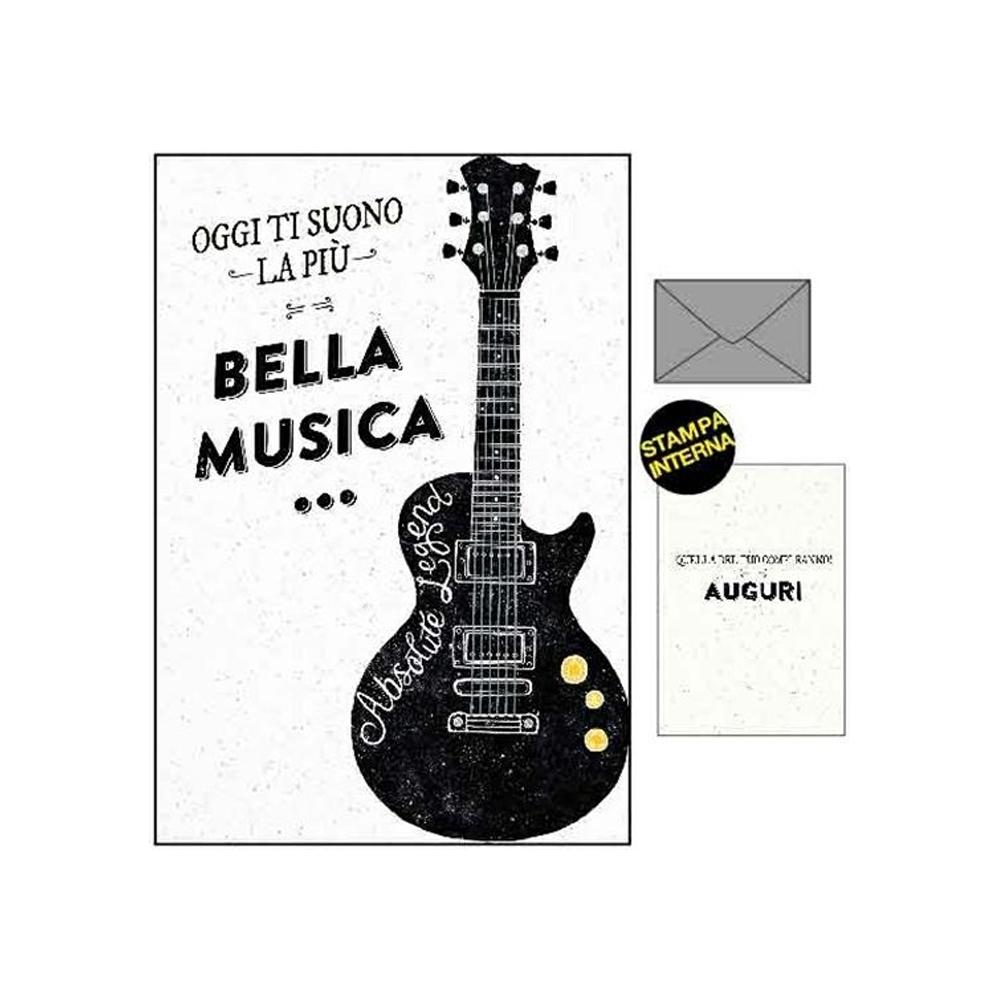 Biglietto compleanno con chitarra