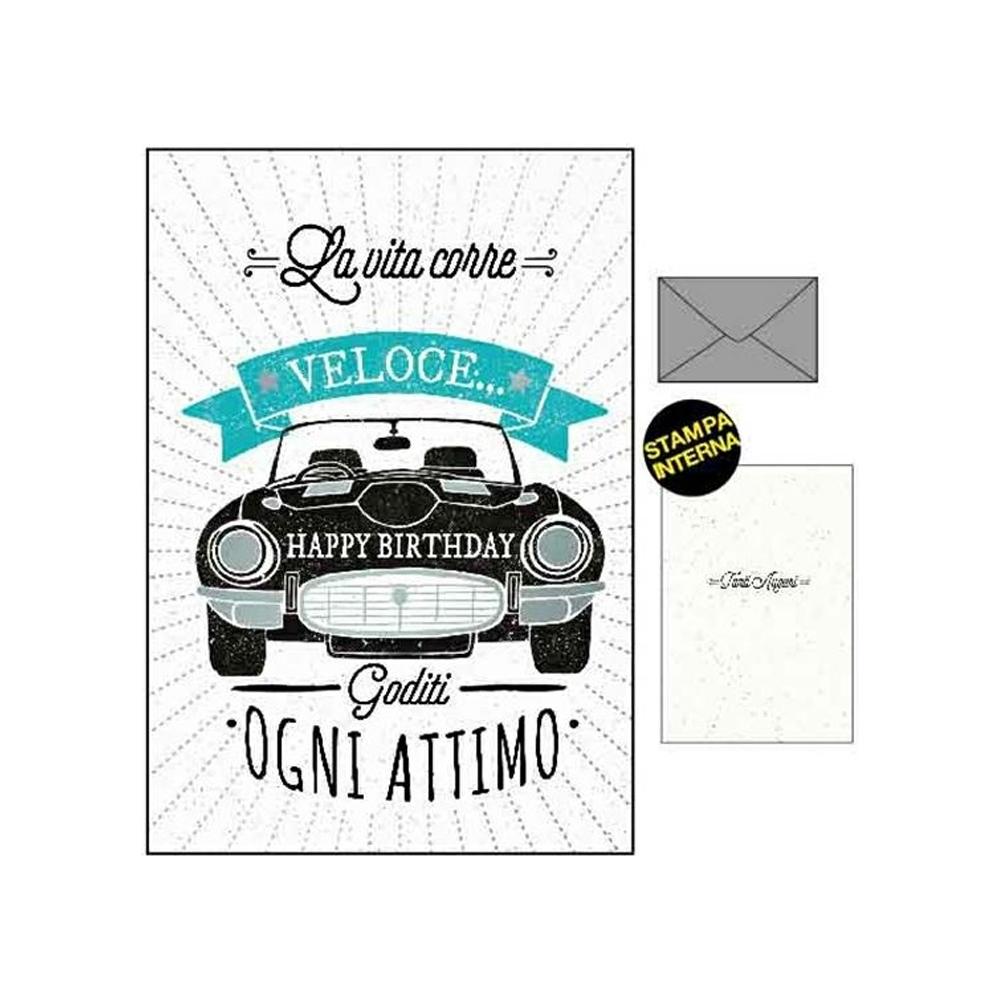Biglietto compleanno con auto