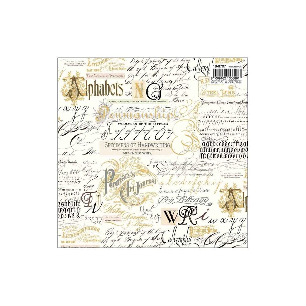 Foglio carta da regalo calligraphy