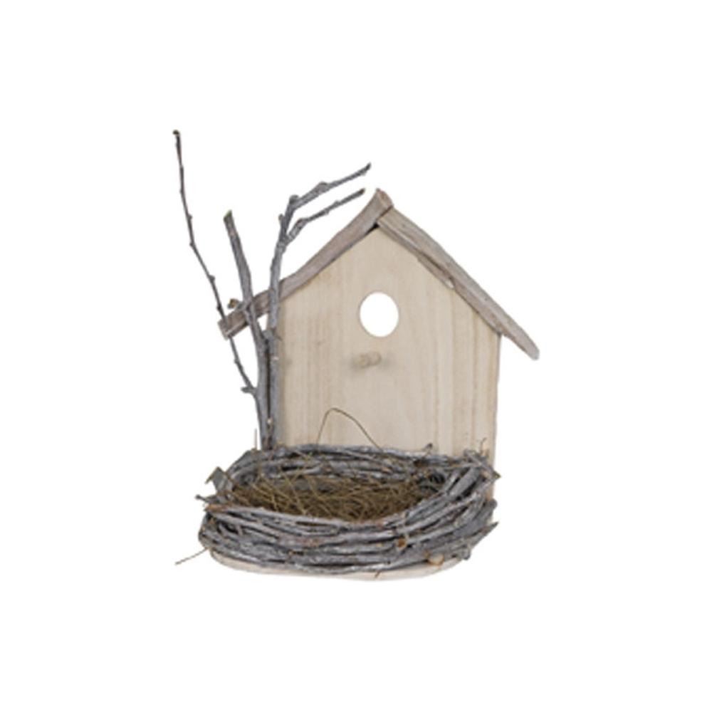Casetta in legno con nido