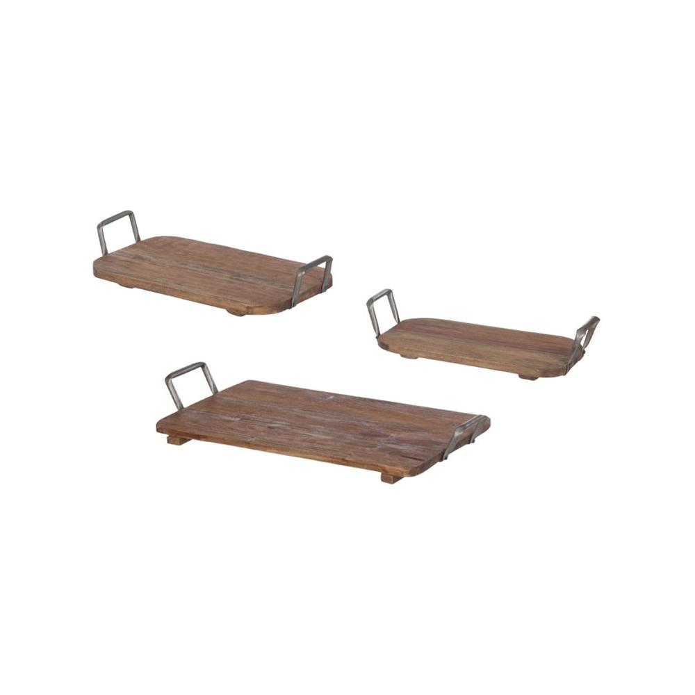 Vassoio in legno con manici