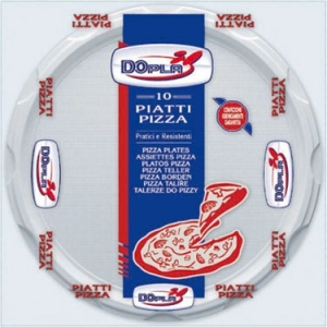 PIATTI PLASTICA PIZZA (10 PEZZI)