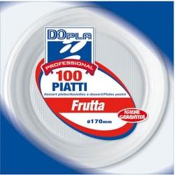 PIATTI PLASTICA FRUTTA  (100 PEZZI)