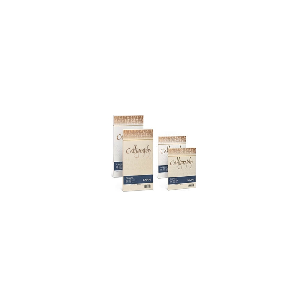 BUSTE CALLIGRAPHY CANVAS - 100GR (25 PEZZI)