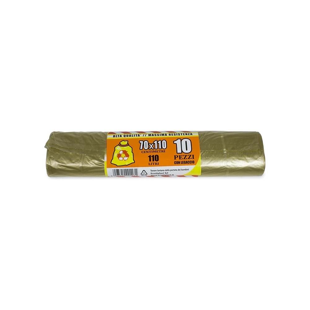 Rotolo da 10 sacchi nettezza gialli