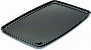 Vassoio Nero Rettangolare Riutilizzabile 30x45 cm (5 Pezzi)   Vendita online all'ingrosso
