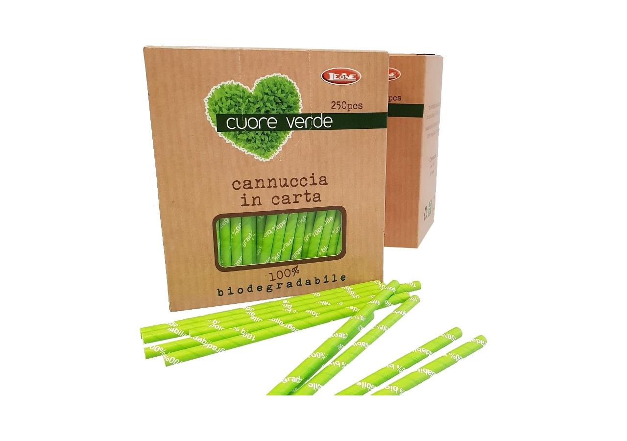 Cannucce Carta Verde Bio (250 pezzi) | Vendita online all'ingrosso b2b