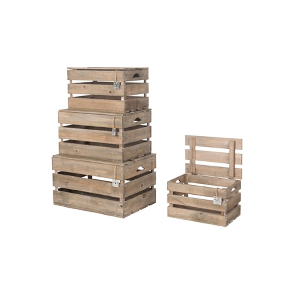 Cassette in legno con coperchio