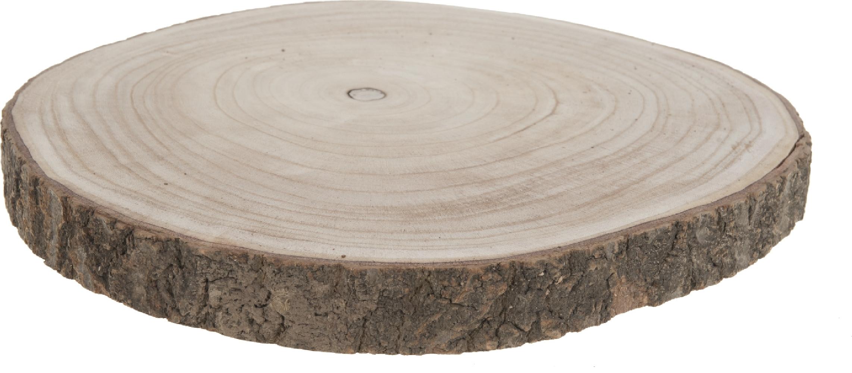 Disco in legno di paulownia