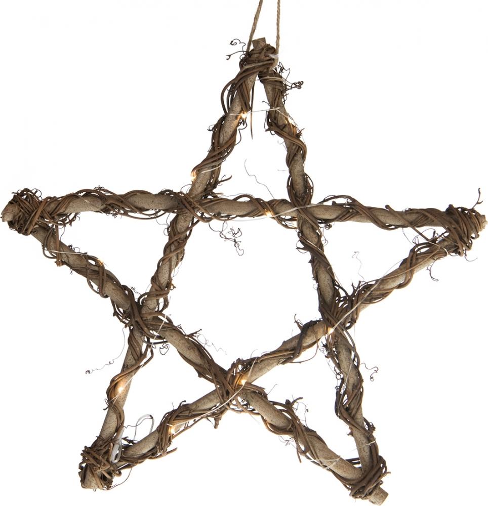 Stella luminosa in legno