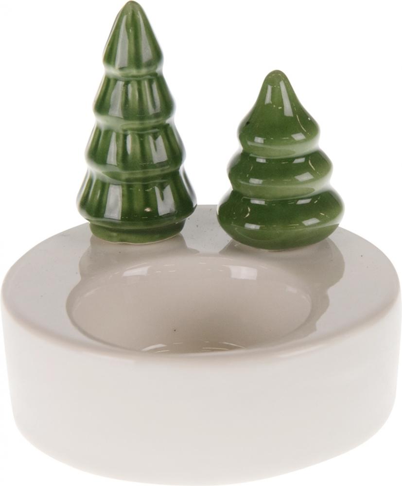 Porta candela con alberi