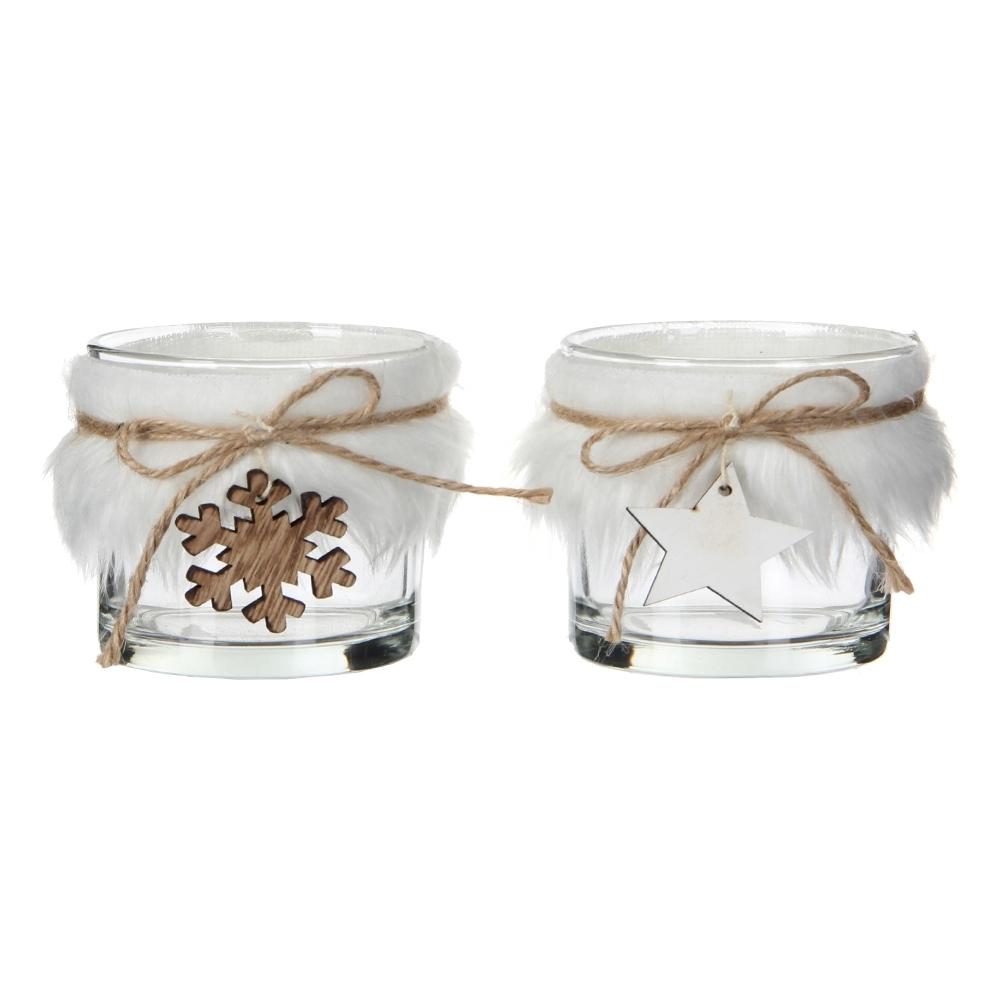 Porta tea-light in vetro