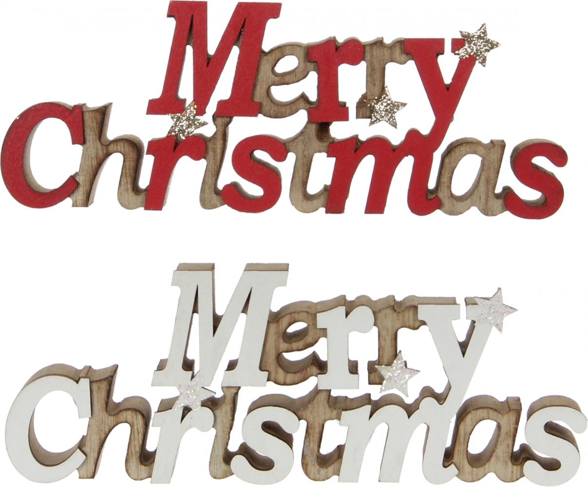 Scritta in legno merry christmas