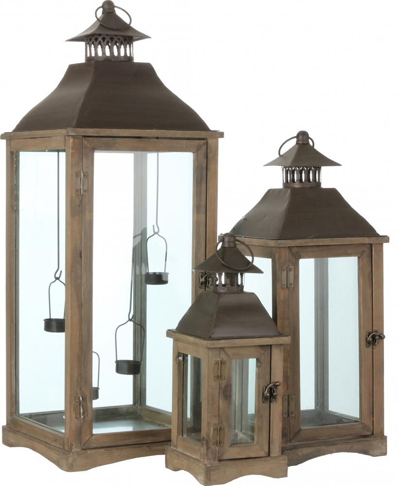 Lanterna con prolfili in legno benson