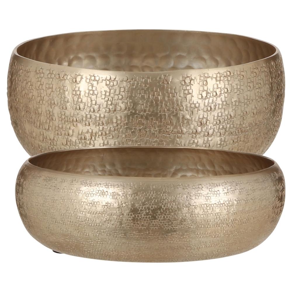 Bowl in metallo effetto martellato