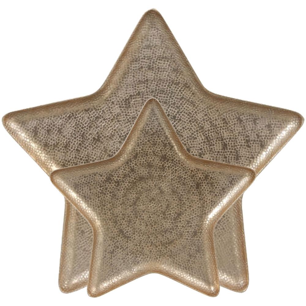 Piatto stella in metallo