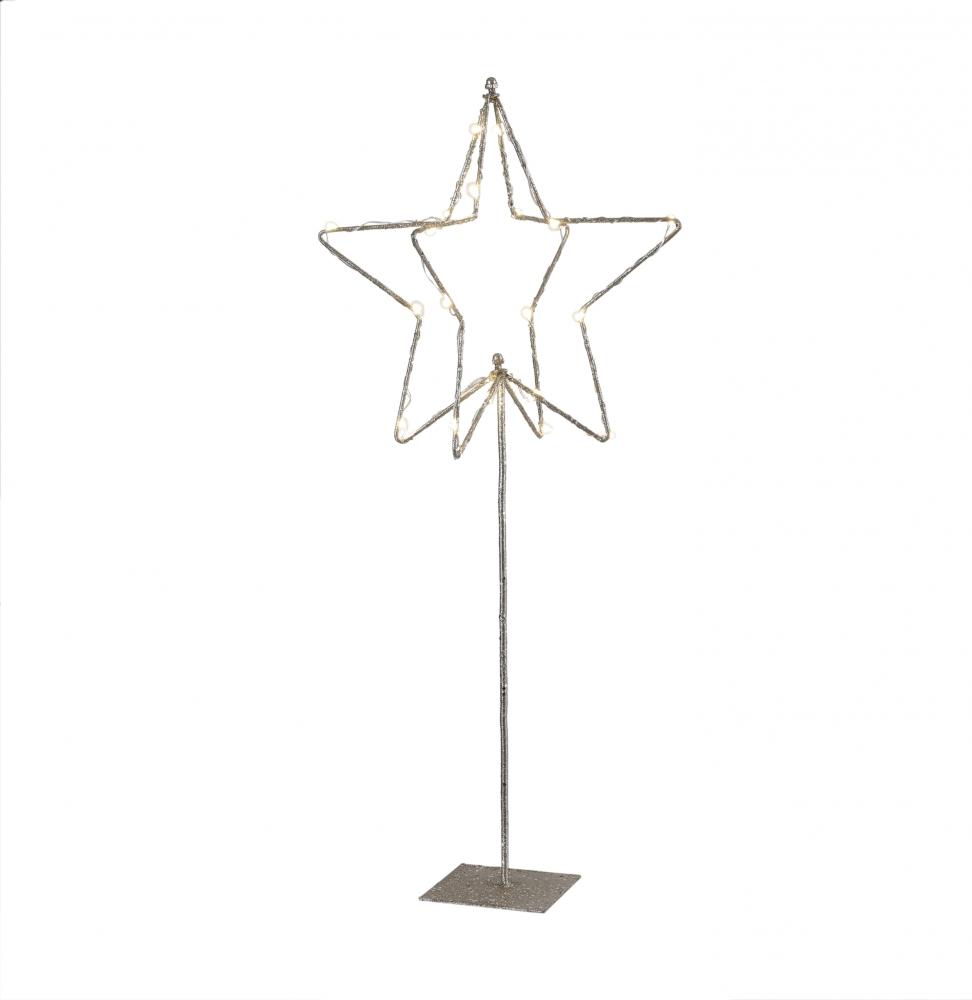 Piedistallo luminoso con stella a batteria