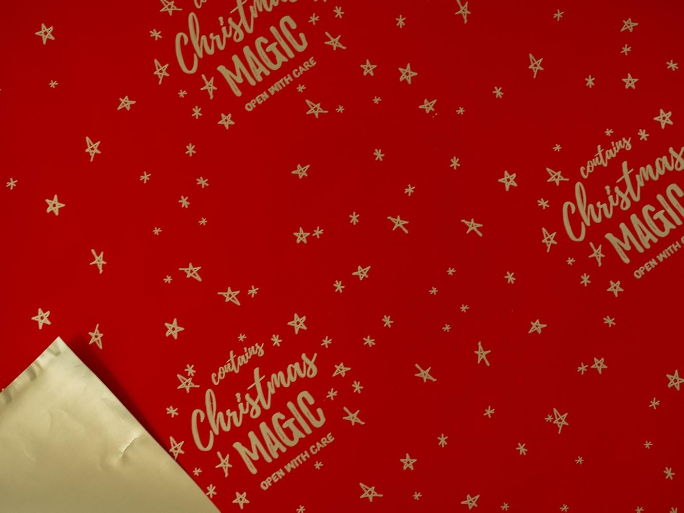 Carta in polipropilene christmas magic