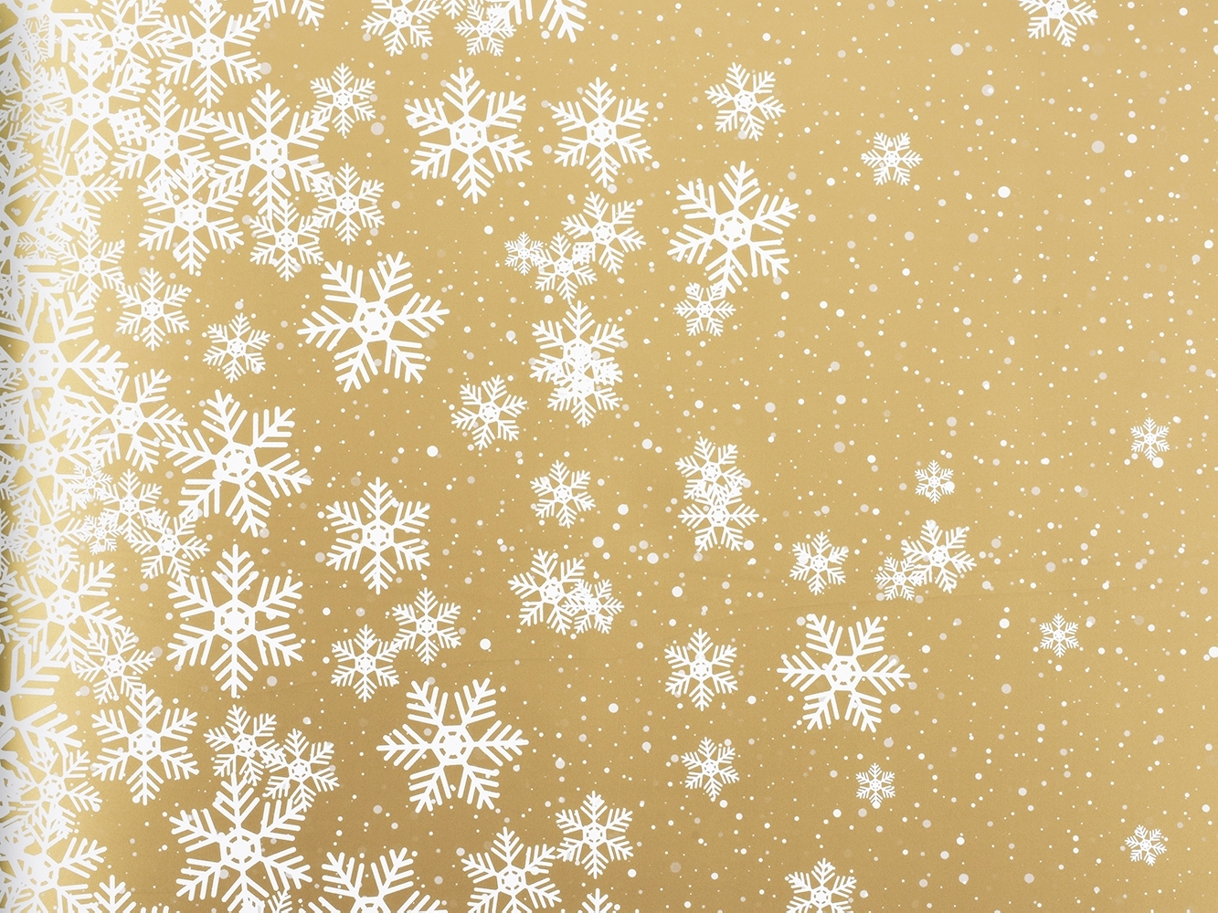 Carta in polipropilene winter calm oro