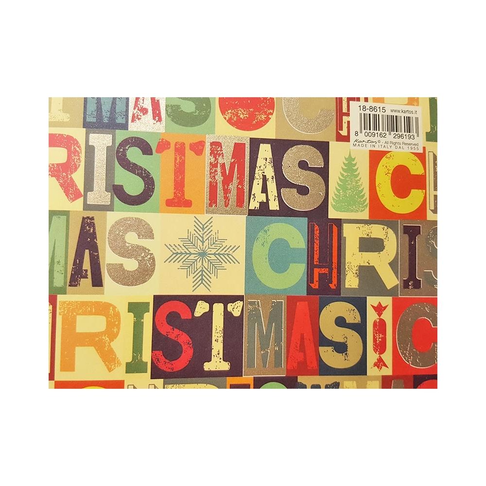 Carta merry christmas vintage