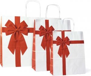 Sacchetti in carta natalizi rosette