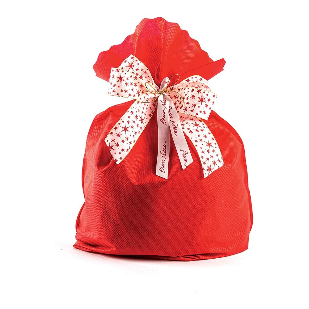 Busta portapanettone in tessuto non tessuto  rosso