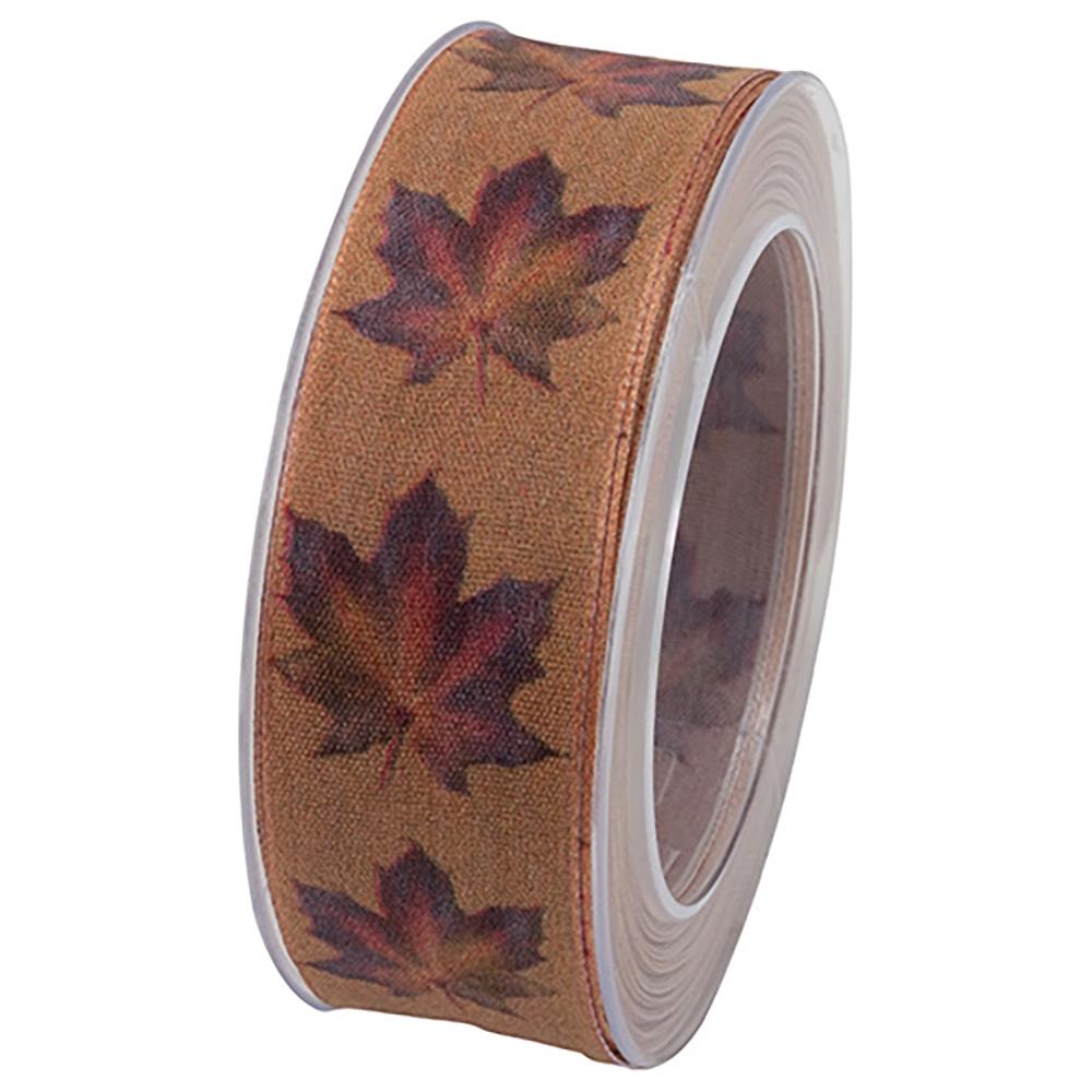 Nastro tessuto foglie acero