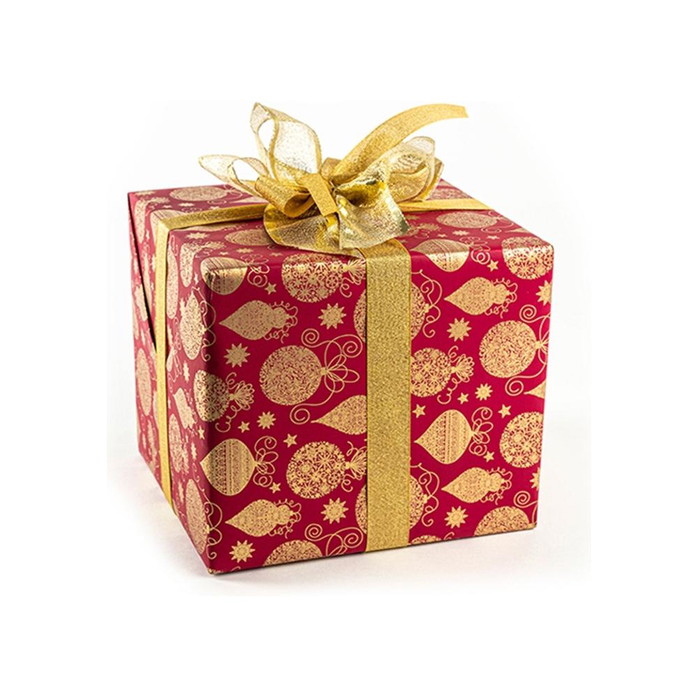 Carta regalo sfere oro (25 fogli)