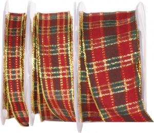 Nastro scozzese lurex animato, disponibile in tre altezze. Vendita all'ingrosso on-line