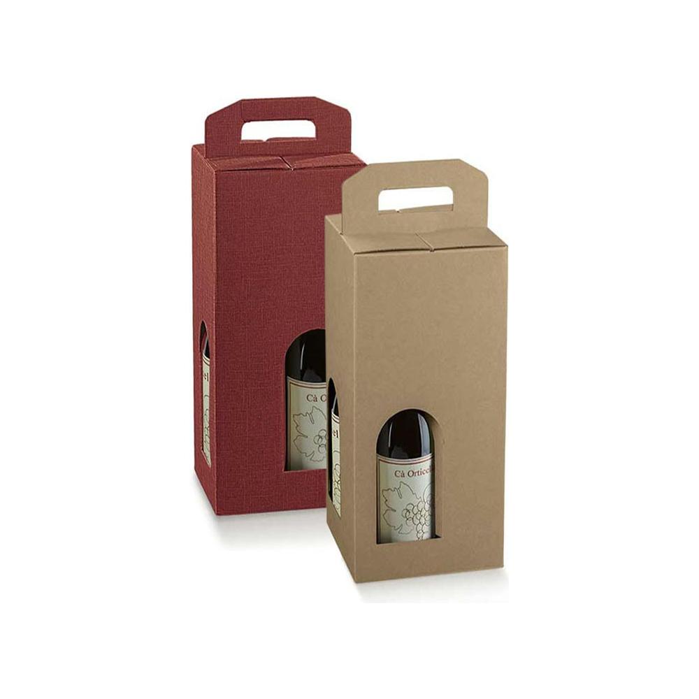 Scatole  in cartoncino per 4 bottiglie