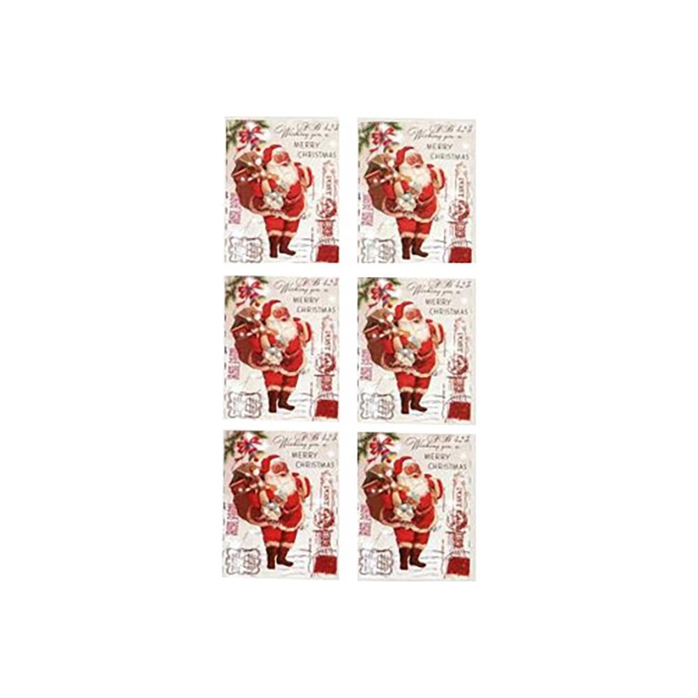 Bigliettini adesivi merry xmas (6 pezzi)